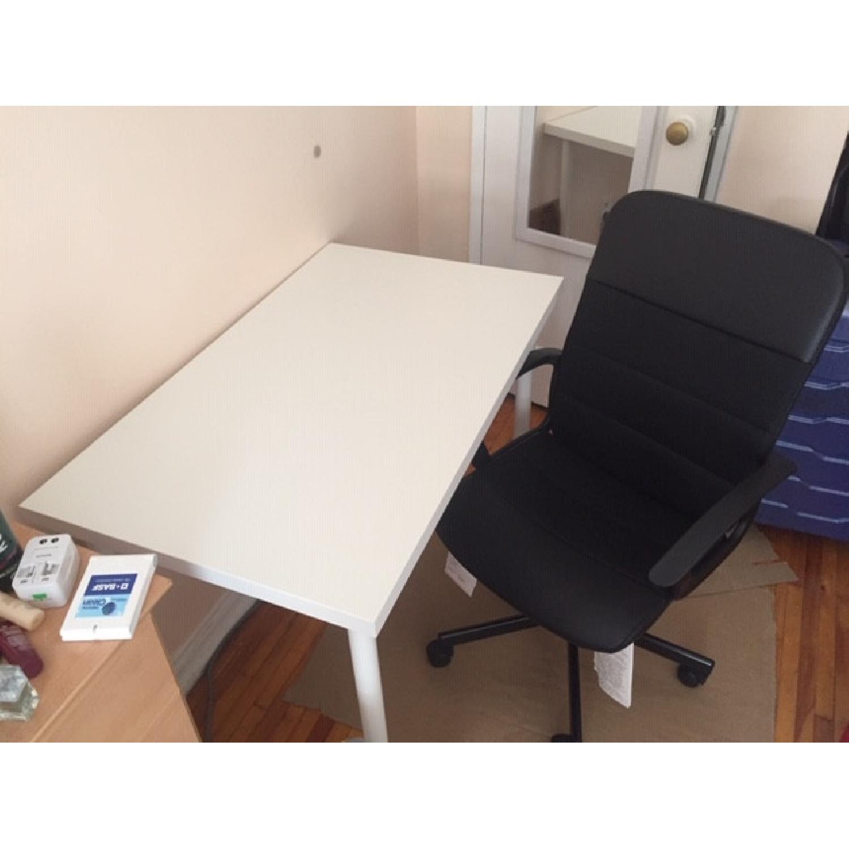 Ikea White Desk & Chair