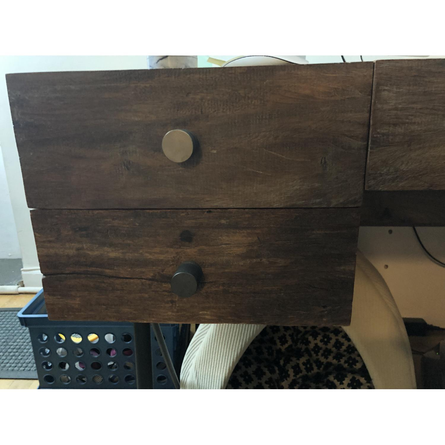 Crate & Barrel Reclaimed Wood Office Desk