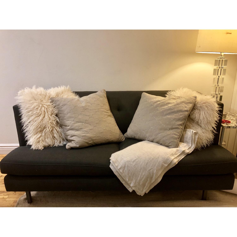 Cool Cb2 Avec Apartment Sofa In Carbon Aptdeco Creativecarmelina Interior Chair Design Creativecarmelinacom