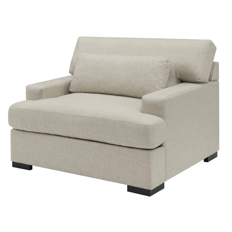 Modern Sofa in Dove Grey Chenille Fabric