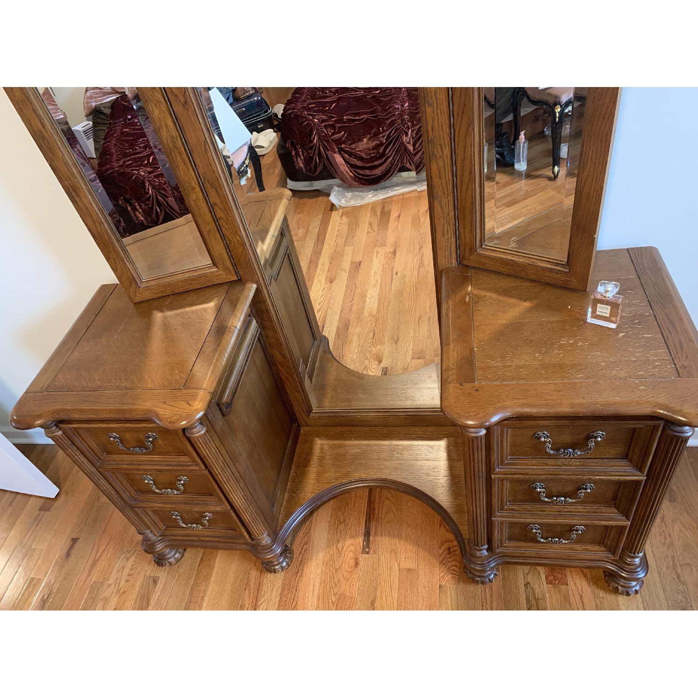Huffman Koos Antique Vanity W Full Length Mirror Aptdeco