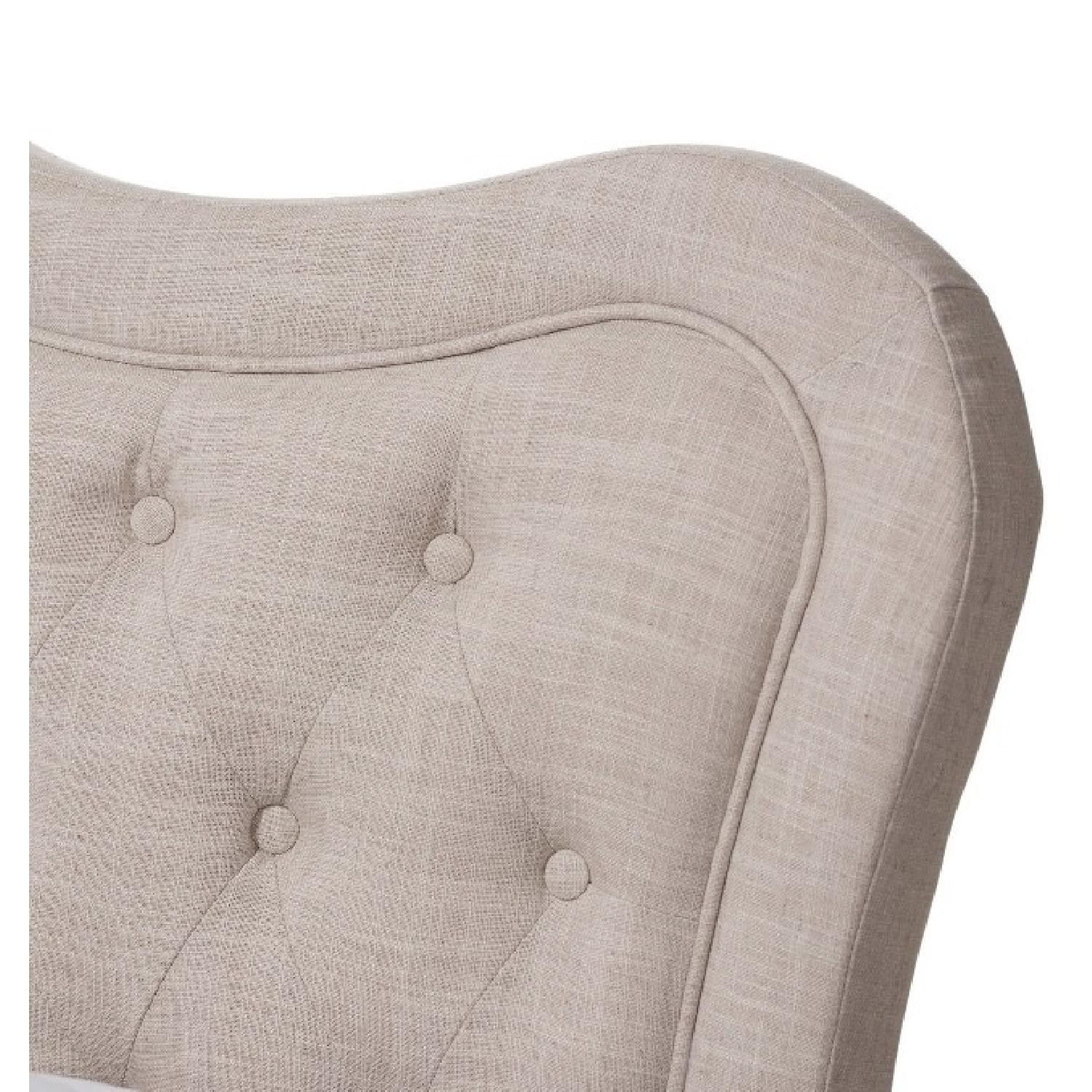 King Fabric Upholstered Tufted Headboard