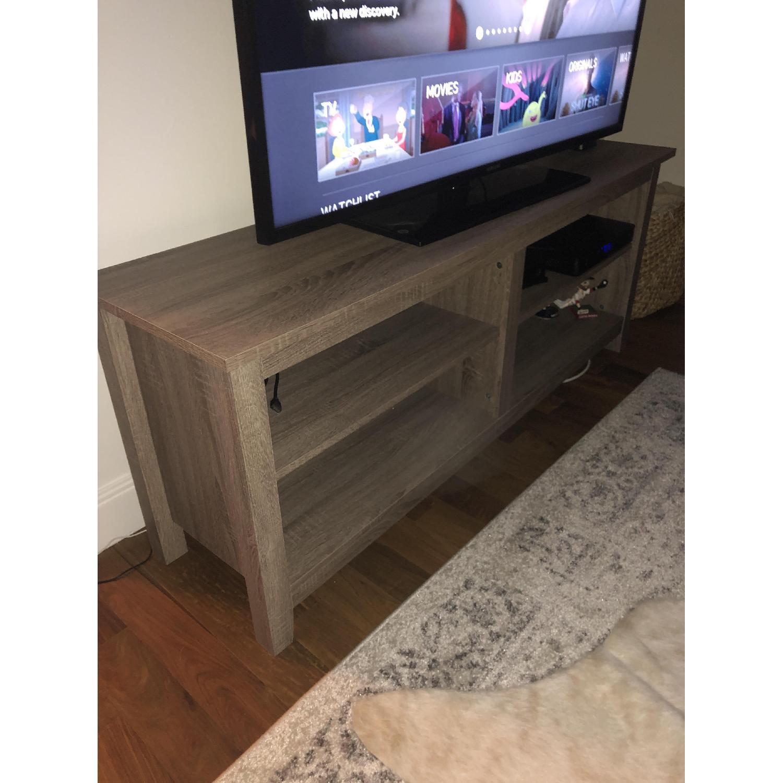 Grey Driftwood TV Storage Console