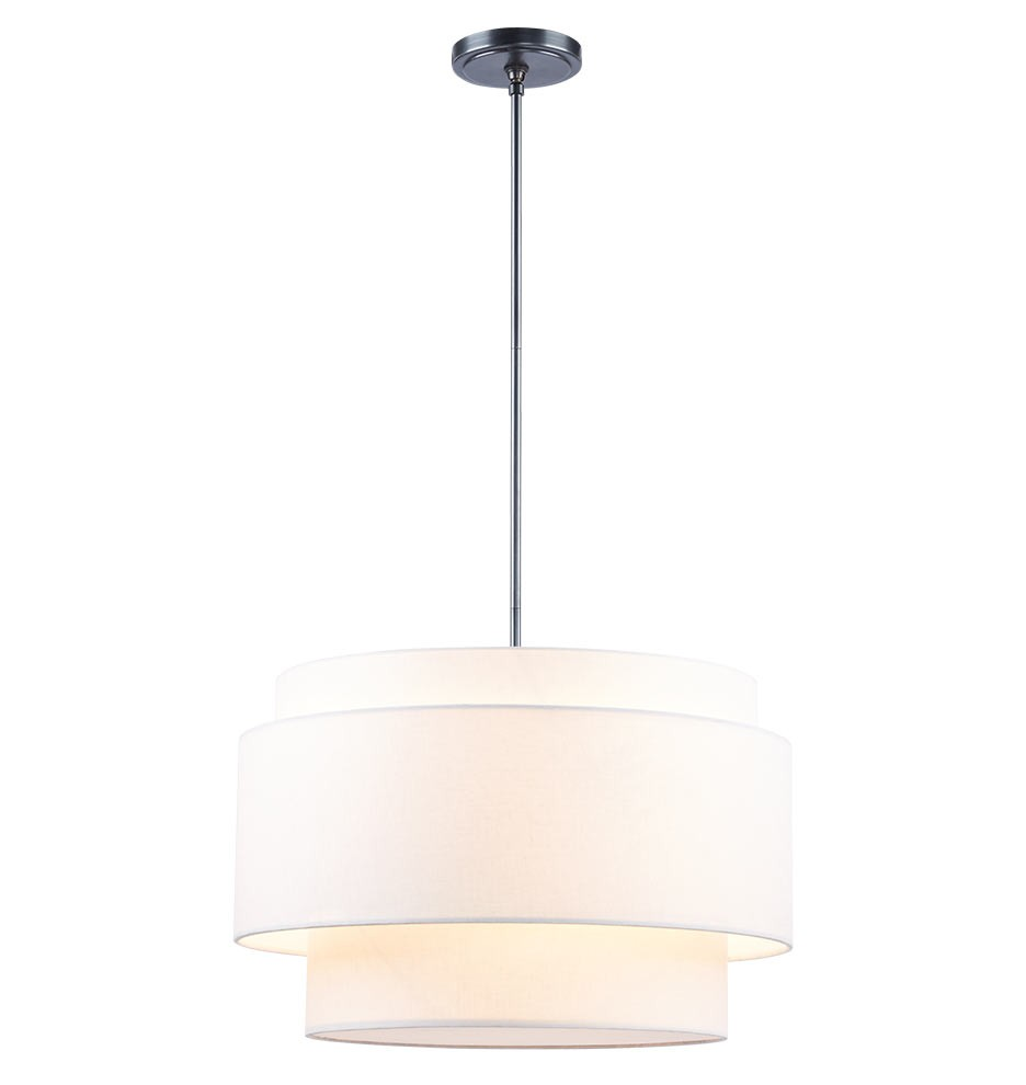 Rejuvenation Small Tiered Drum Pendant