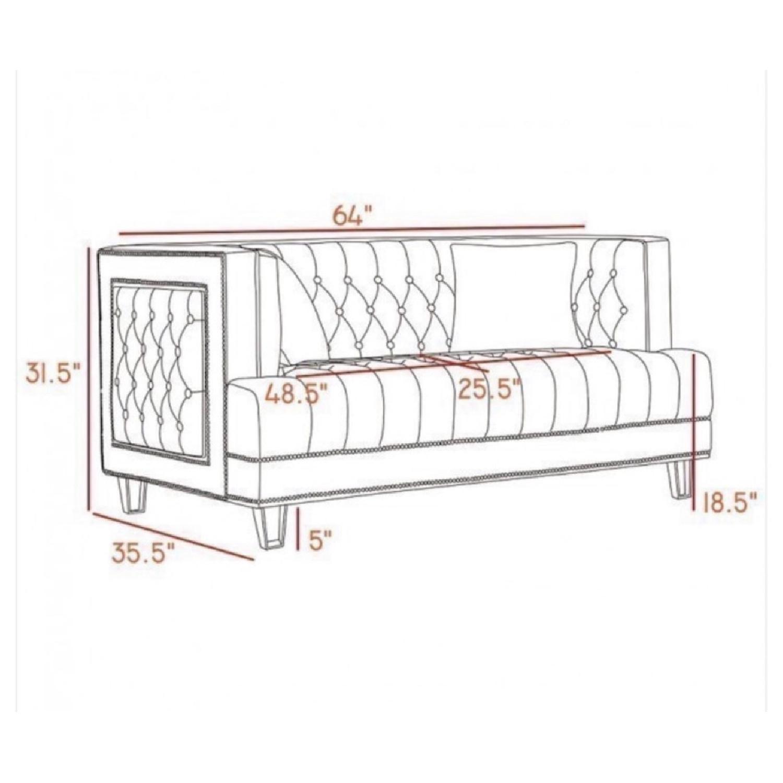Meridian Furniture USA Lucas Velvet Loveseat
