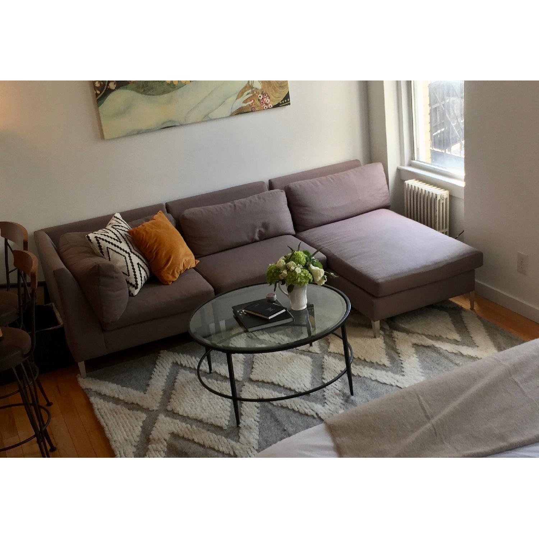CB2 Ceilo 3-Piece Grey Sectional Sofa