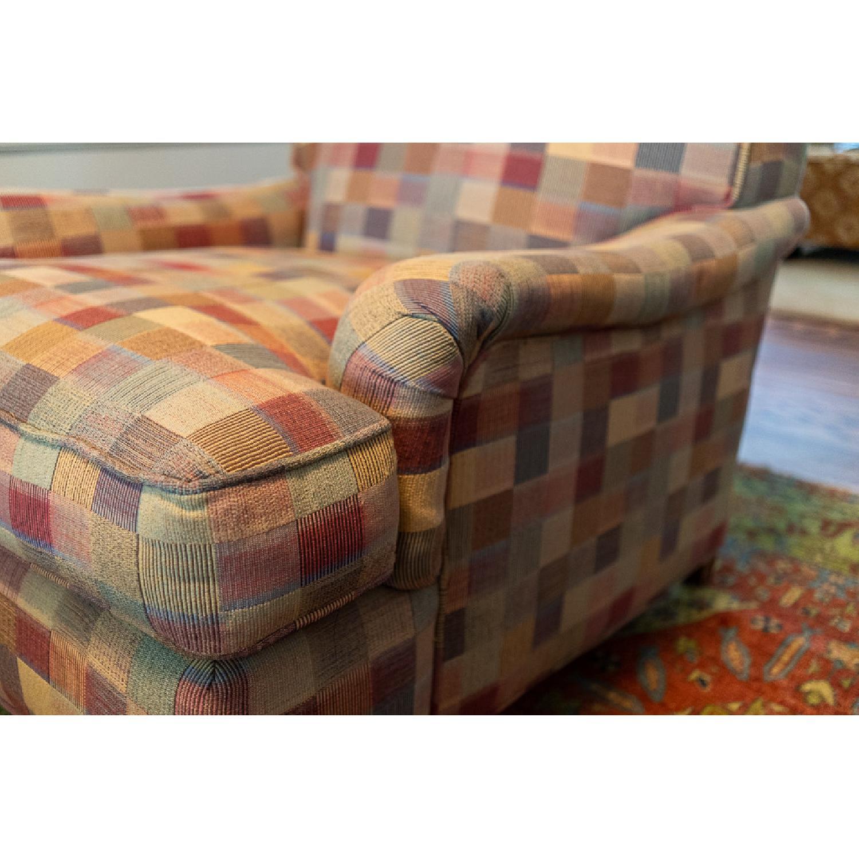 Crate & Barrel Armchair in Multi Colored Fabric