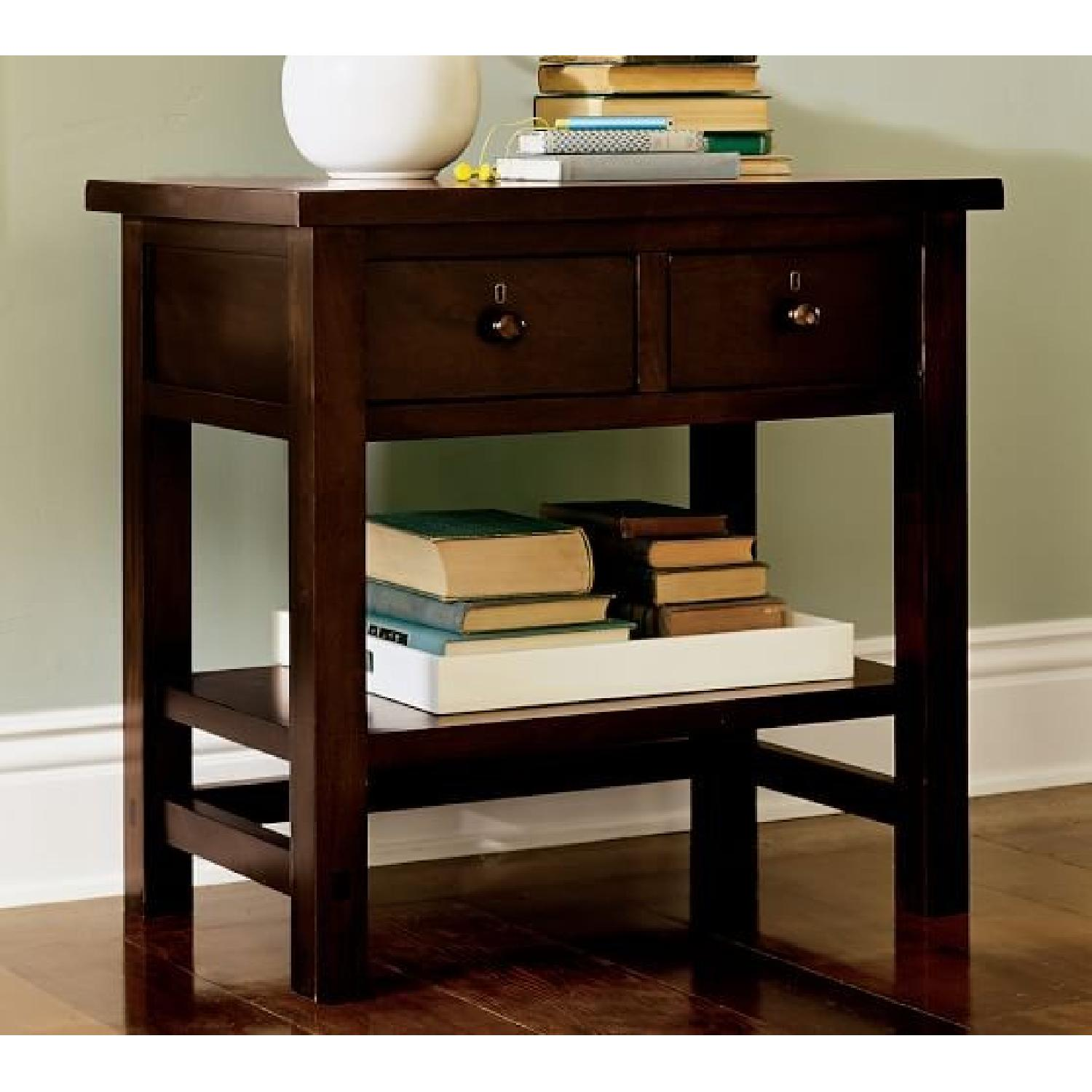 Pottery Barn Farmhouse Two-Drawer Bedside Tables
