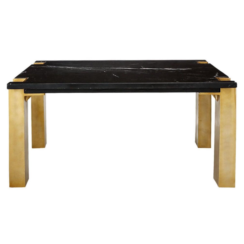 Cb2 Alcide Square Marble Coffee Table Aptdeco