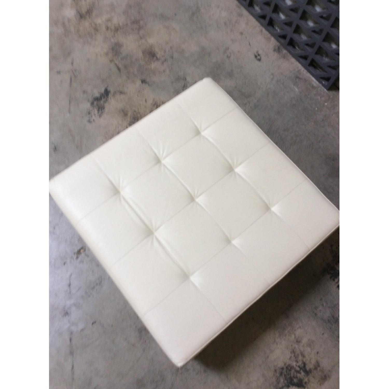 Lazzoni Furniture Leather Ottoman - image-1