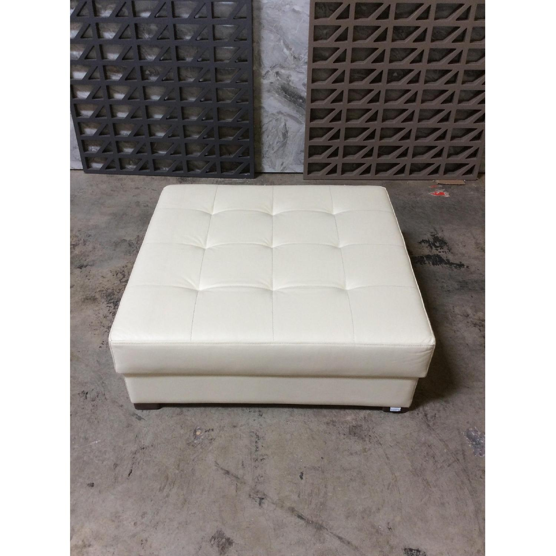 Lazzoni Furniture Leather Ottoman - image-2