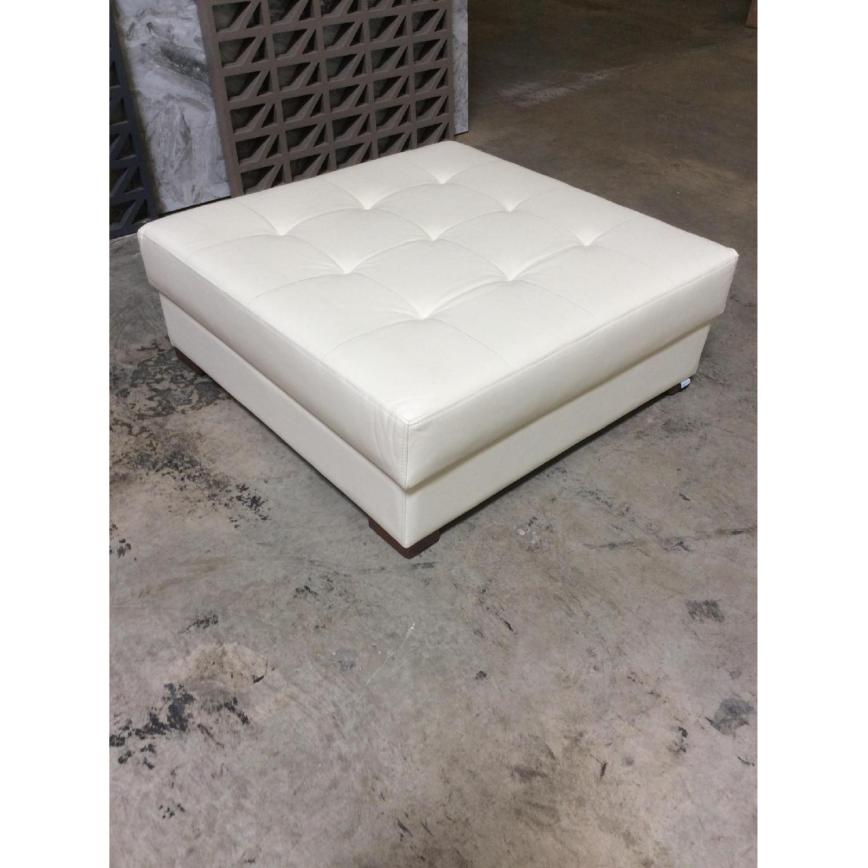 Lazzoni Furniture Leather Ottoman - image-4