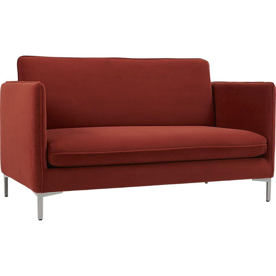 CB2 Flatiron Red/Orange Apartment Sofa