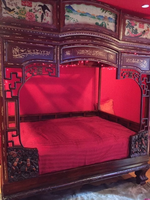 Antique Chinese Wedding Bunk Bed