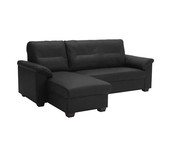 Ikea Knislinge Faux Leather Sectional Sofa   AptDeco