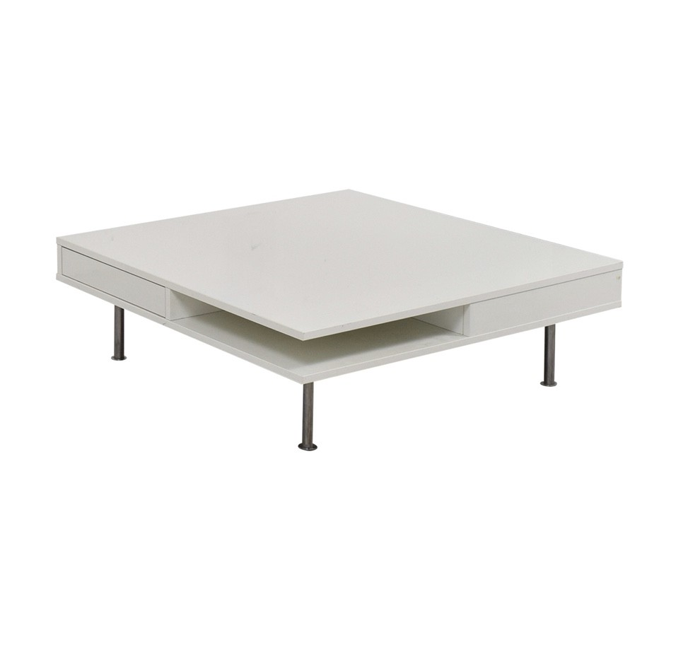 Magnificent Ikea Contemporary Coffee Table In White Gloss W Drawers Lamtechconsult Wood Chair Design Ideas Lamtechconsultcom