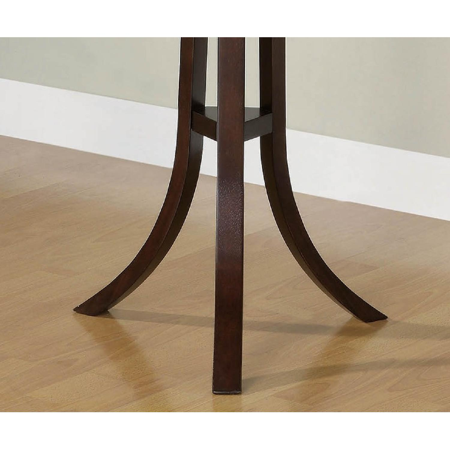 Modern Coat Rack In Cappuccino Finish - image-4