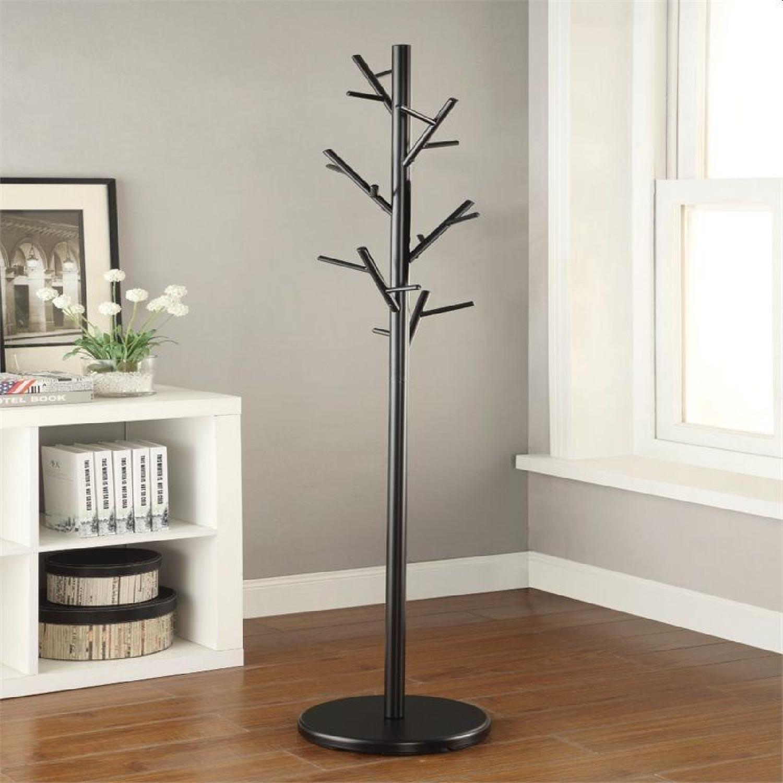 Black Coat Rack w/ Tree-Branch Inspired Design - image-3