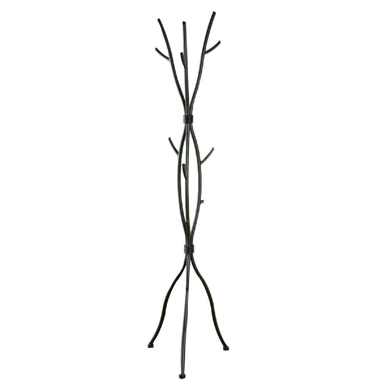 Coat Rack in Brown Metal in Twig Design - image-0