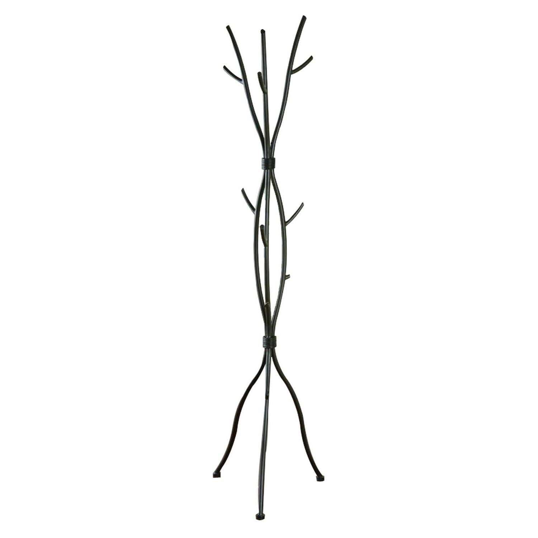 Coat Rack in Brown Metal in Twig Design - image-1