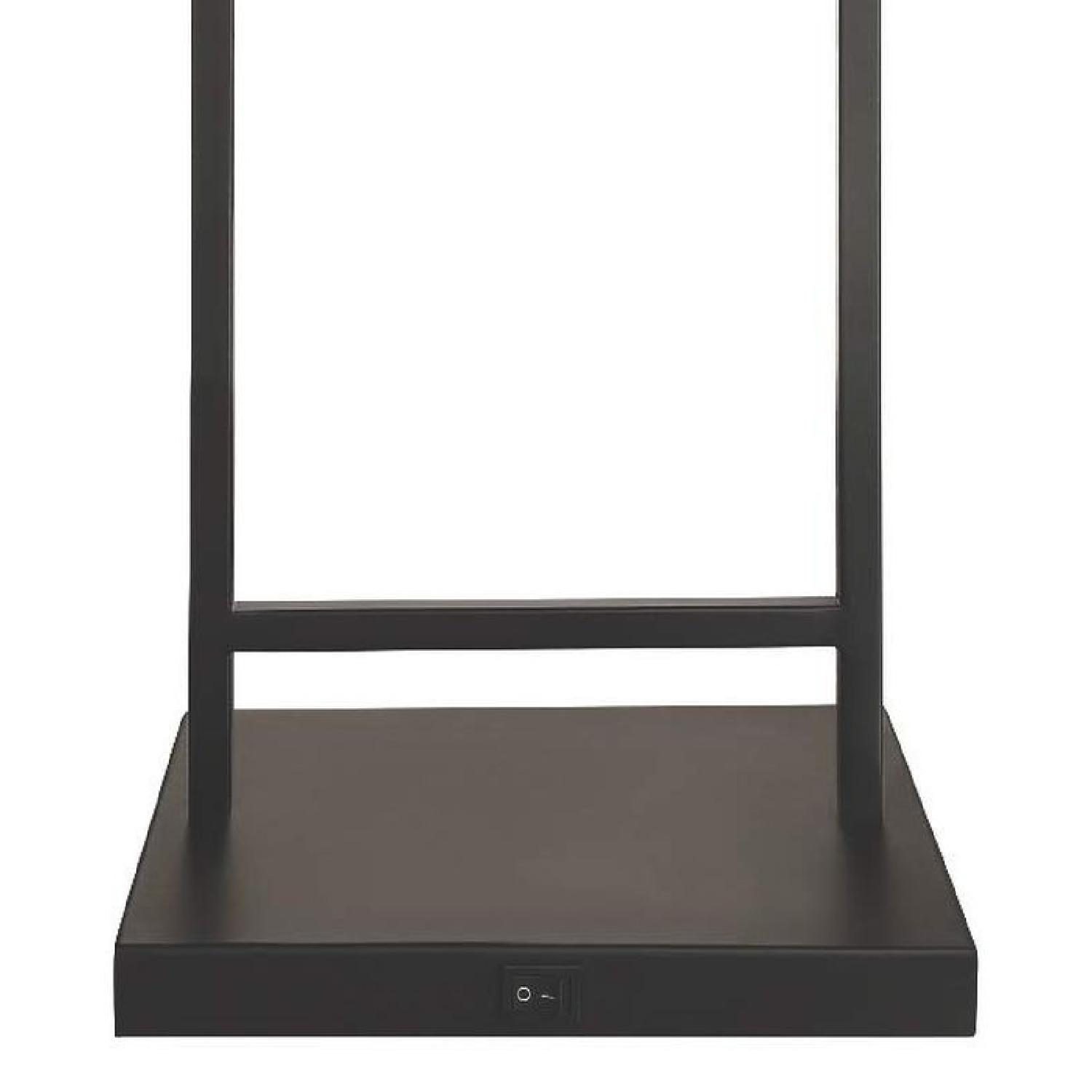 Modern Table Lamp in Black Metal w/ Clear Shade - image-1