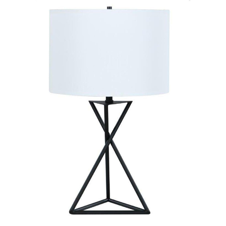 Modern Table Lamp w/ Minimalist Geometric Patterns - image-0