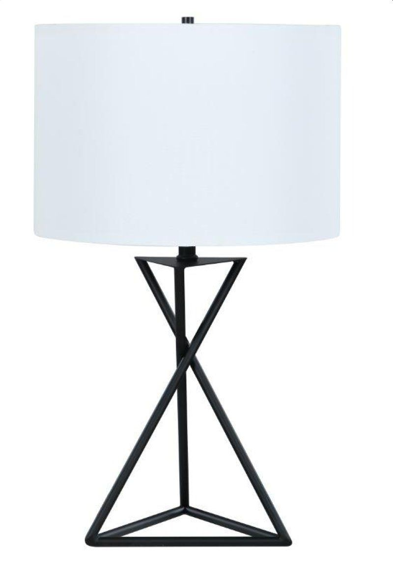 Modern Table Lamp w/ Minimalist Geometric Patterns