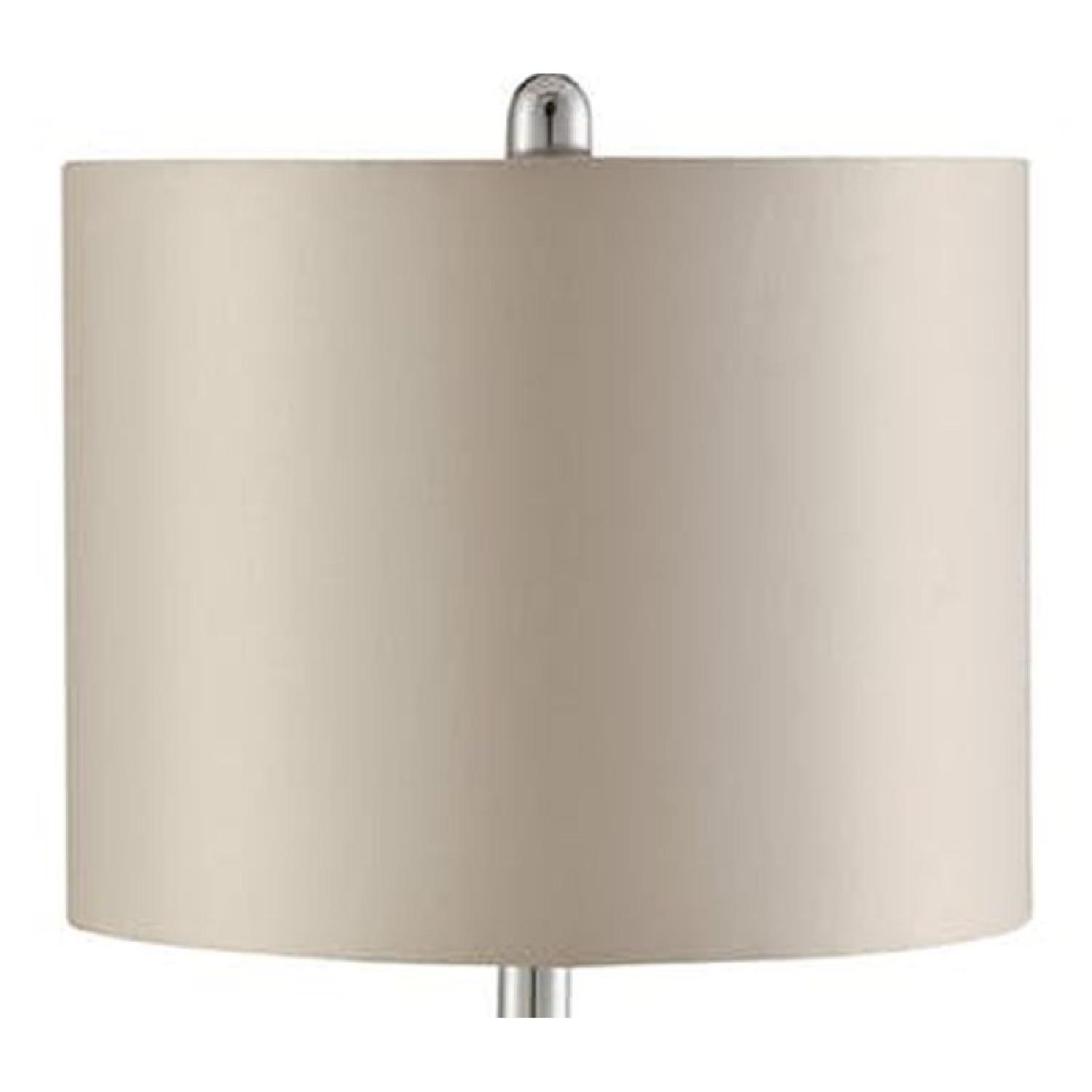 Table Lamp in Light Gold Base w/ Cut-Out Pattern - image-1