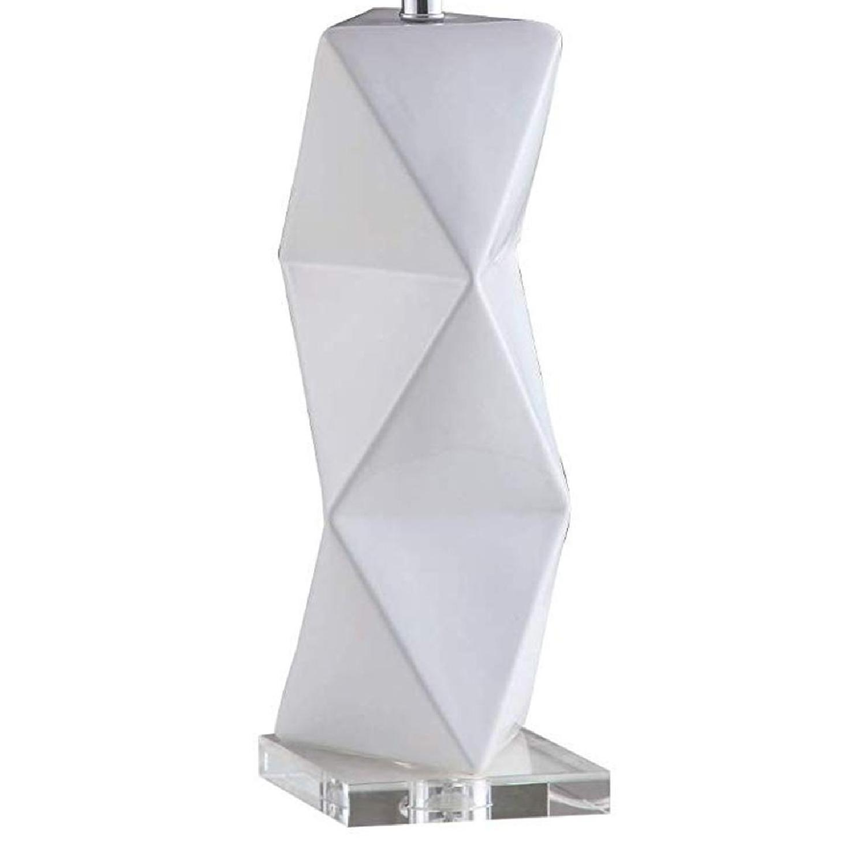Modern Table Lamp w/ White Ceramic Sculptural Base - image-2