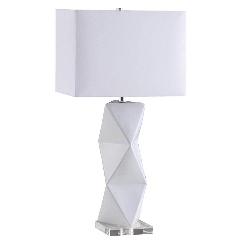 Modern Table Lamp w/ White Ceramic Sculptural Base - image-0