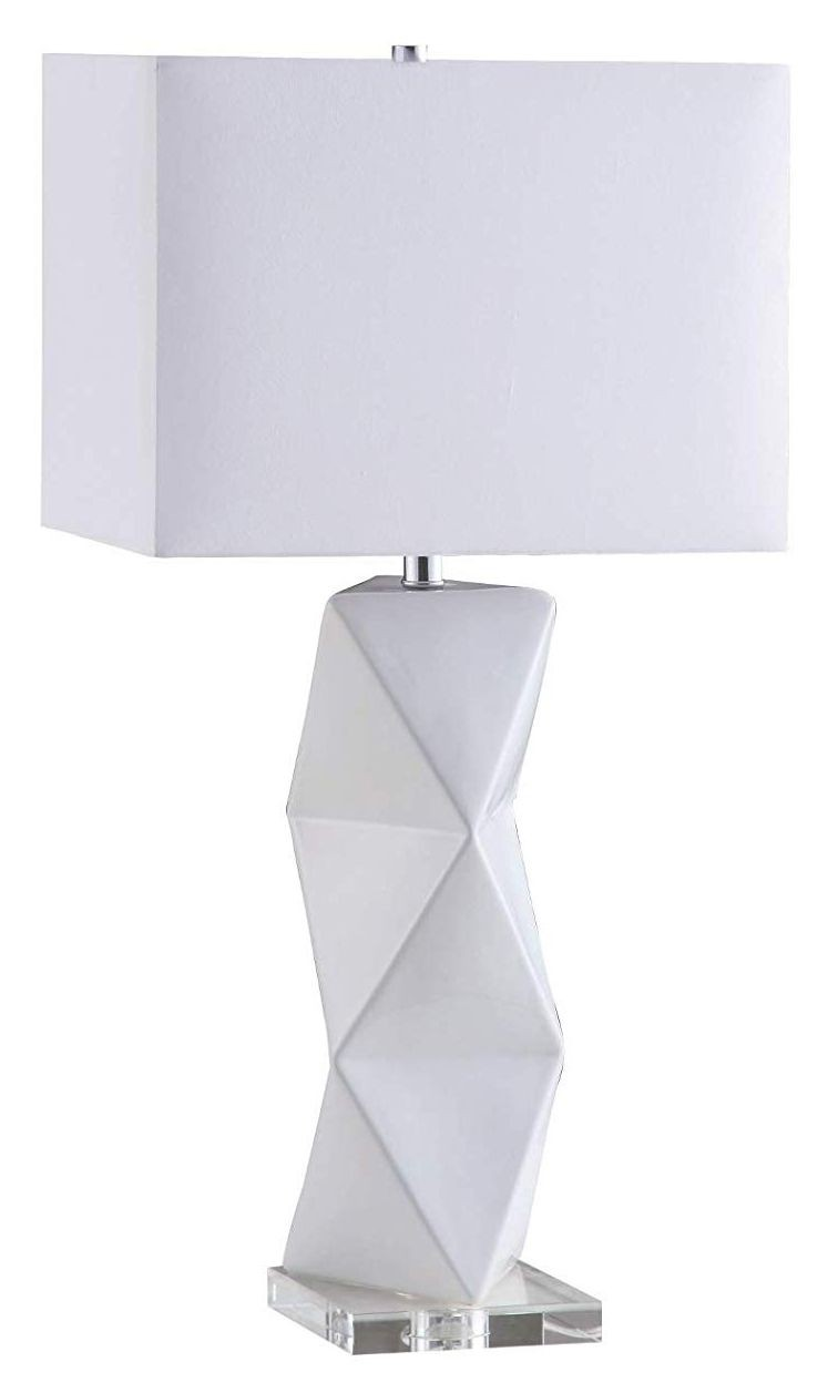 Modern Table Lamp w/ White Ceramic Sculptural Base