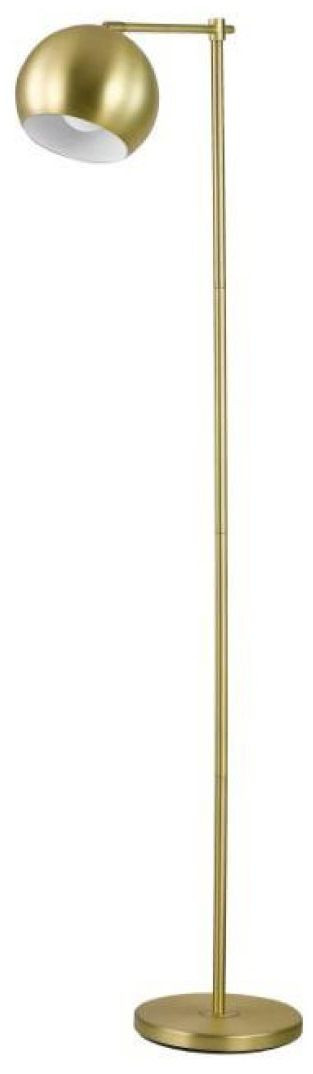 Modern Miminalist Floor Lamp In Brass Finish
