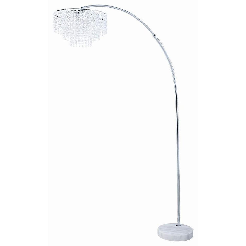 Modern Miminalist Floor Lamp In Brass Finish - image-7