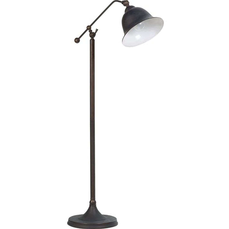 Modern Miminalist Floor Lamp In Brass Finish - image-8