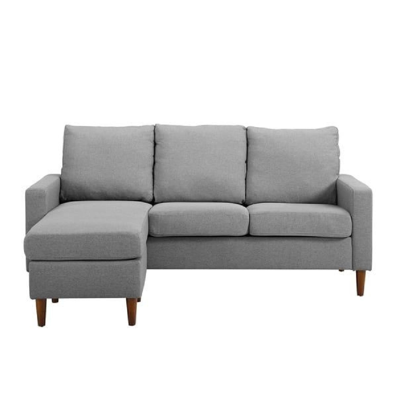 Porch & Den Apartment Reversible Sectional Sofa