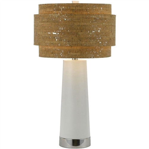AF Lighting Aviva Pearl Table Lamp w/ Cork Shade