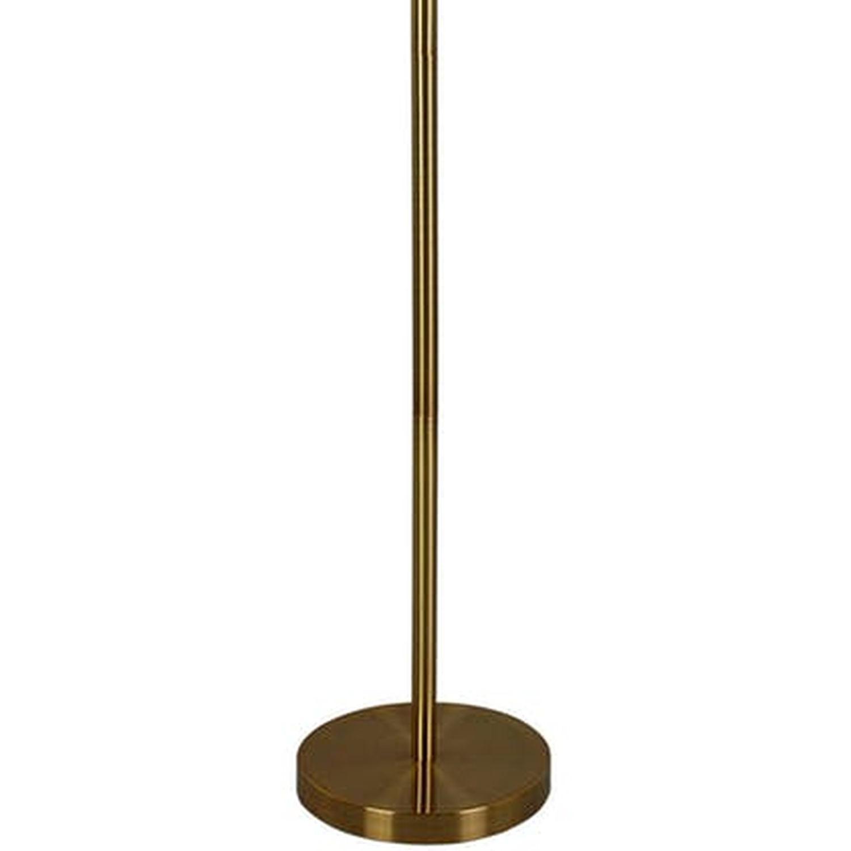 Modern Floor Lamp w/ Adjustable Arm & Polished Brass Base - image-1