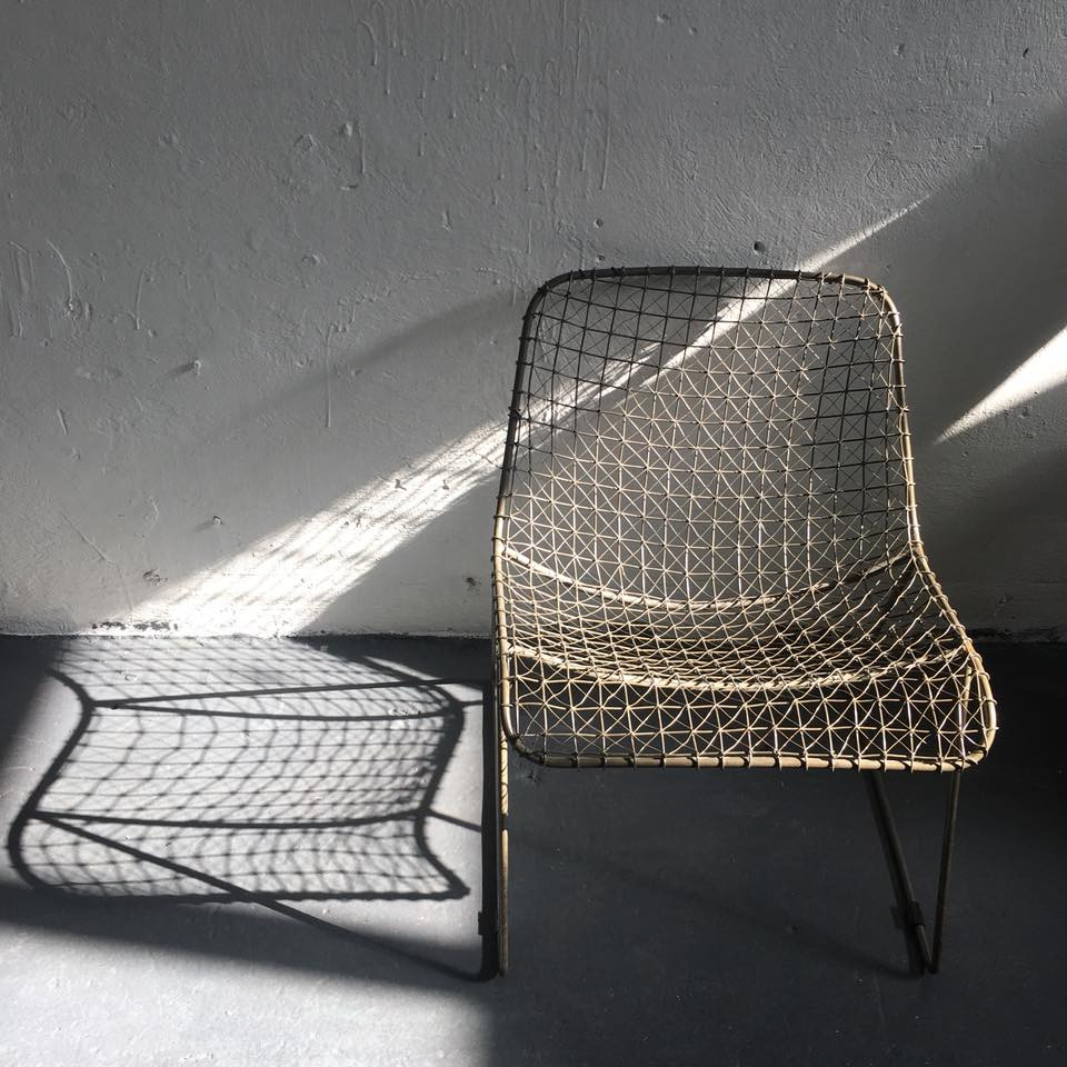 CB2 Mesh Wire Chair