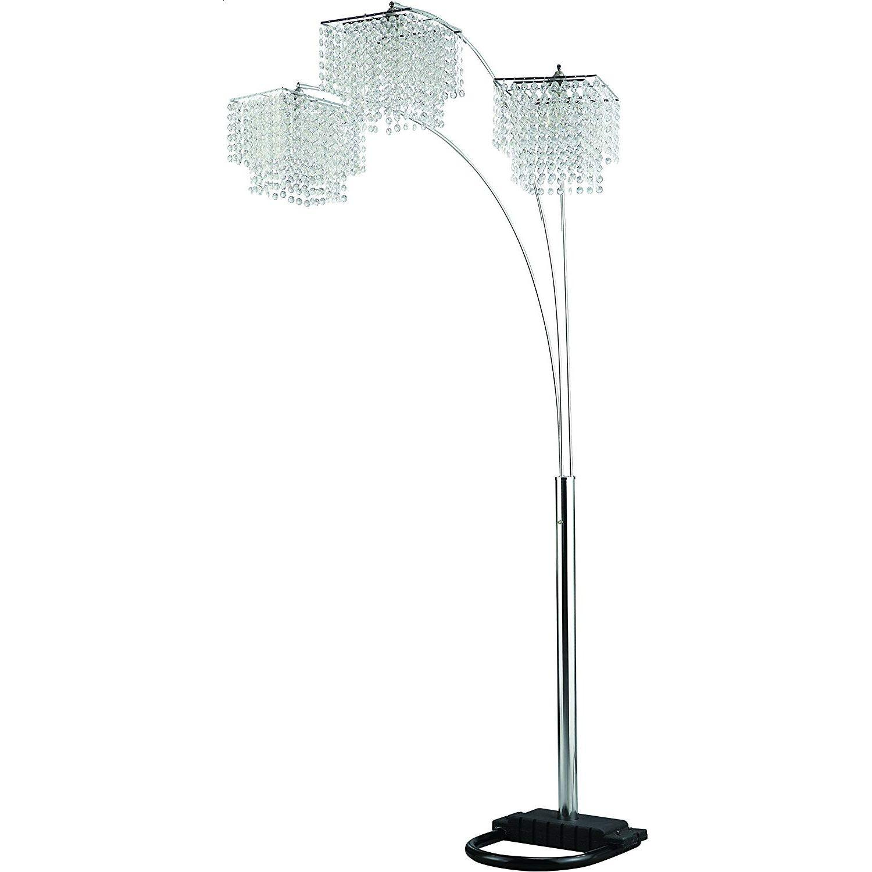 Arch Floor Lamp w/ 3 Chandelier-Inspired Lights