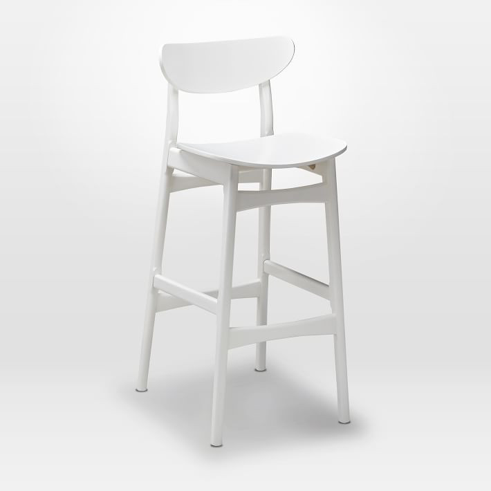 West Elm Classic Caf Lacquer Bar Stool