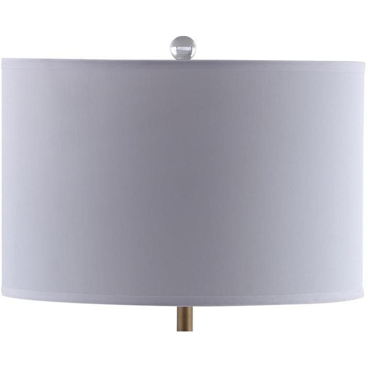 Table Lamp w/ Clear Glass Ball & Brass Base - image-1
