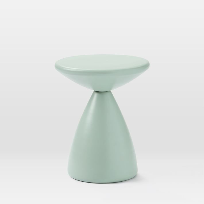 West Elm Cosmo Side Table - Dusty Mint