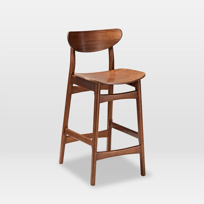 West Elm Classic Cafe Walnut Counter Stool
