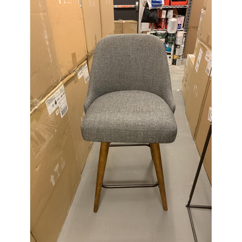 Amazing West Elm Mid Century Upholstered Swivel Counter Stool Aptdeco Cjindustries Chair Design For Home Cjindustriesco