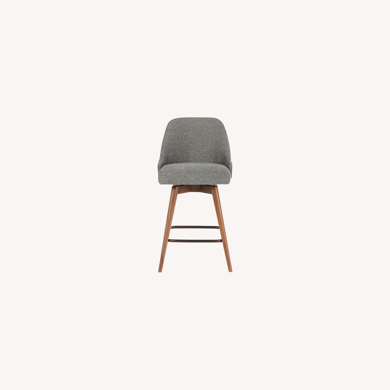 West Elm Mid-Century Upholstered Swivel Counter Stool
