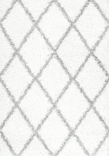 nuLOOM Plush Diamond Trellis Shag Area Rug