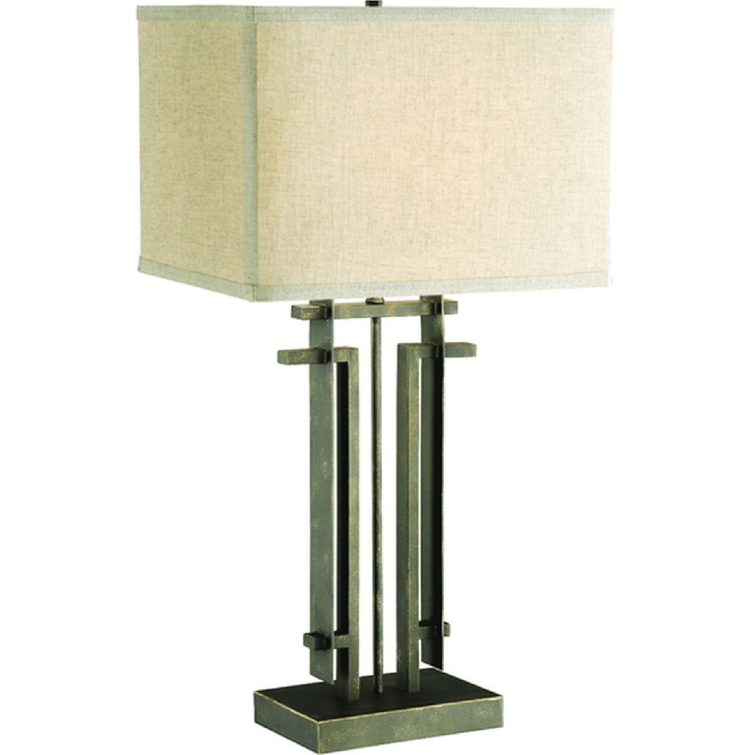 Table Lamp w/ Perpendicular Lines in an Architectural Frame - image-0