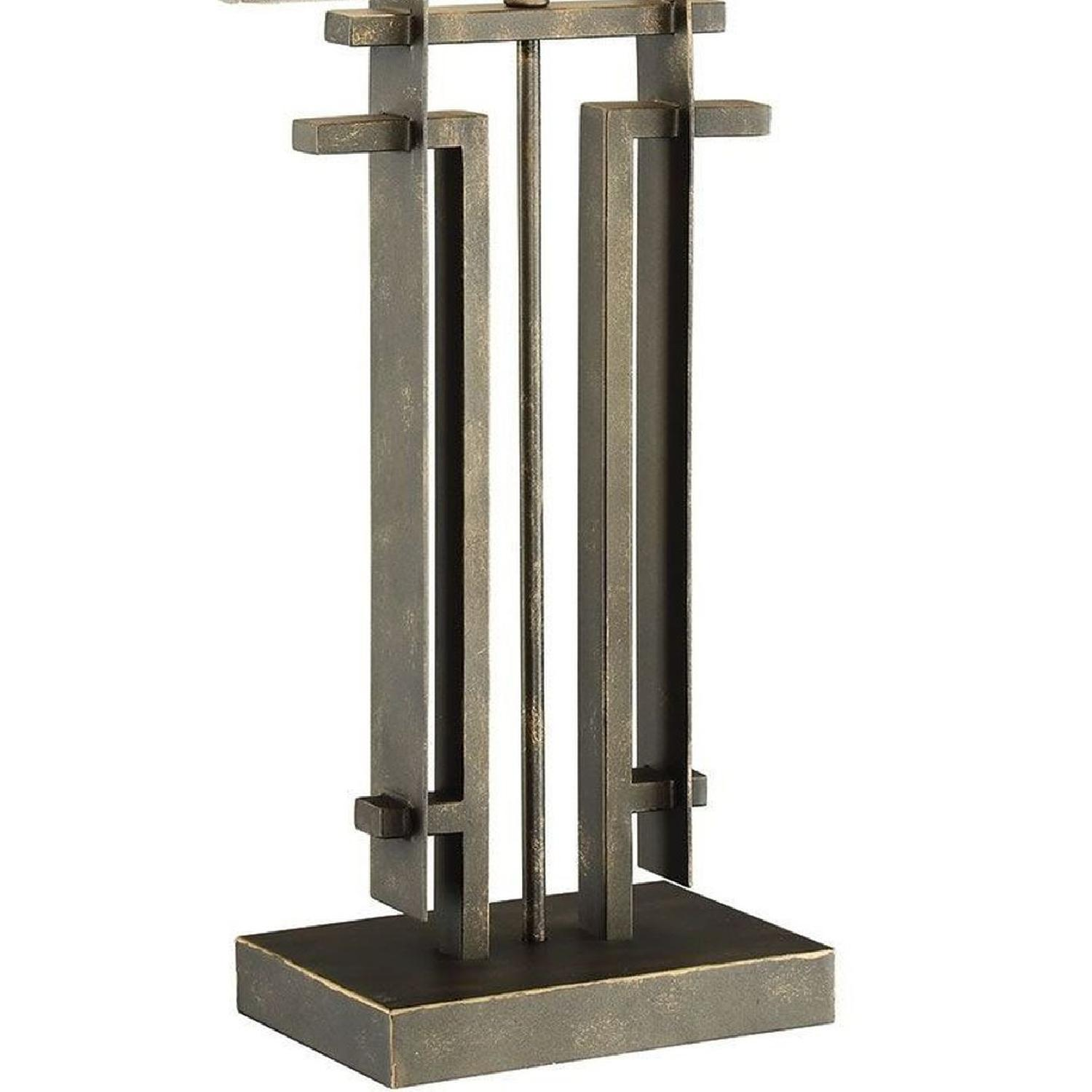 Table Lamp w/ Perpendicular Lines in an Architectural Frame - image-5