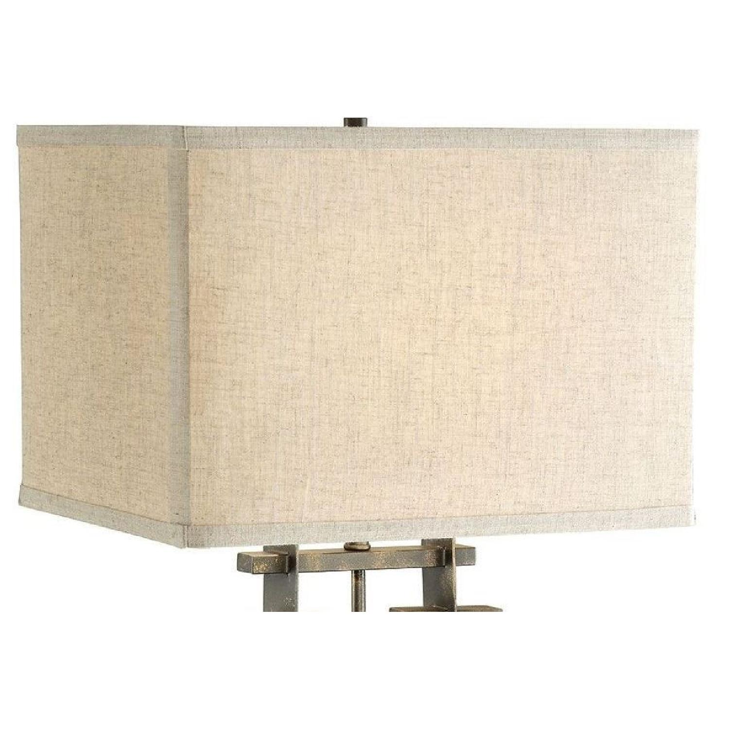 Table Lamp w/ Perpendicular Lines in an Architectural Frame - image-6