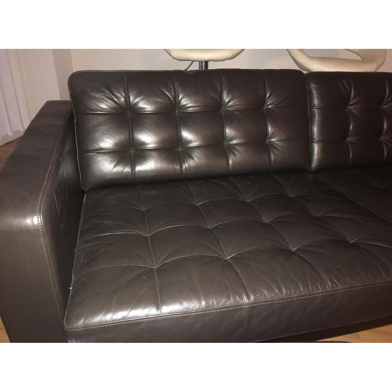 Ikea Landskrona Leather Sofa & Ottoman